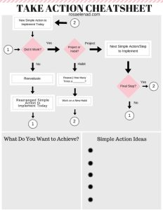 Free Take Action Cheatsheet - Get Things Done