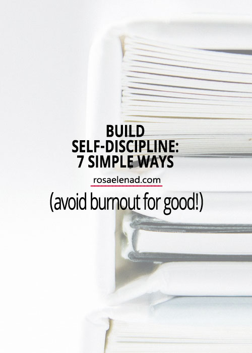 Build Self Discipline - 7 Simple Ways - The Self-Discipline Handbook - Author Natalie Wise - Book Review