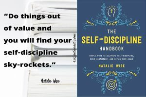 The Self-Discipline Handbook Quote  and Book Cover