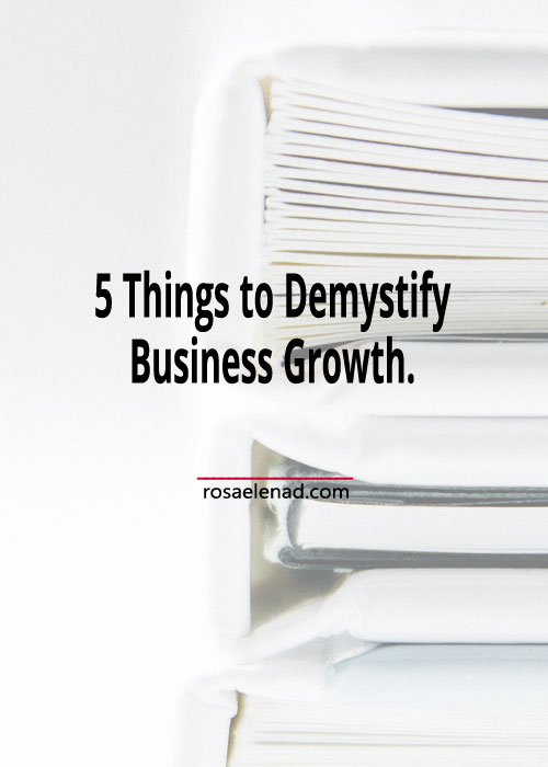 Demystify business growth