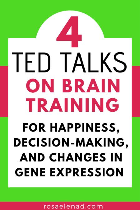Text overlay - 4 TED talks on brain training