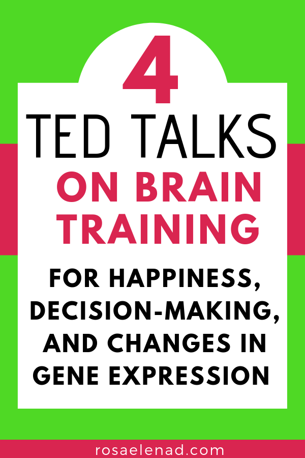 Text overlay - 4 TED talks on brain training