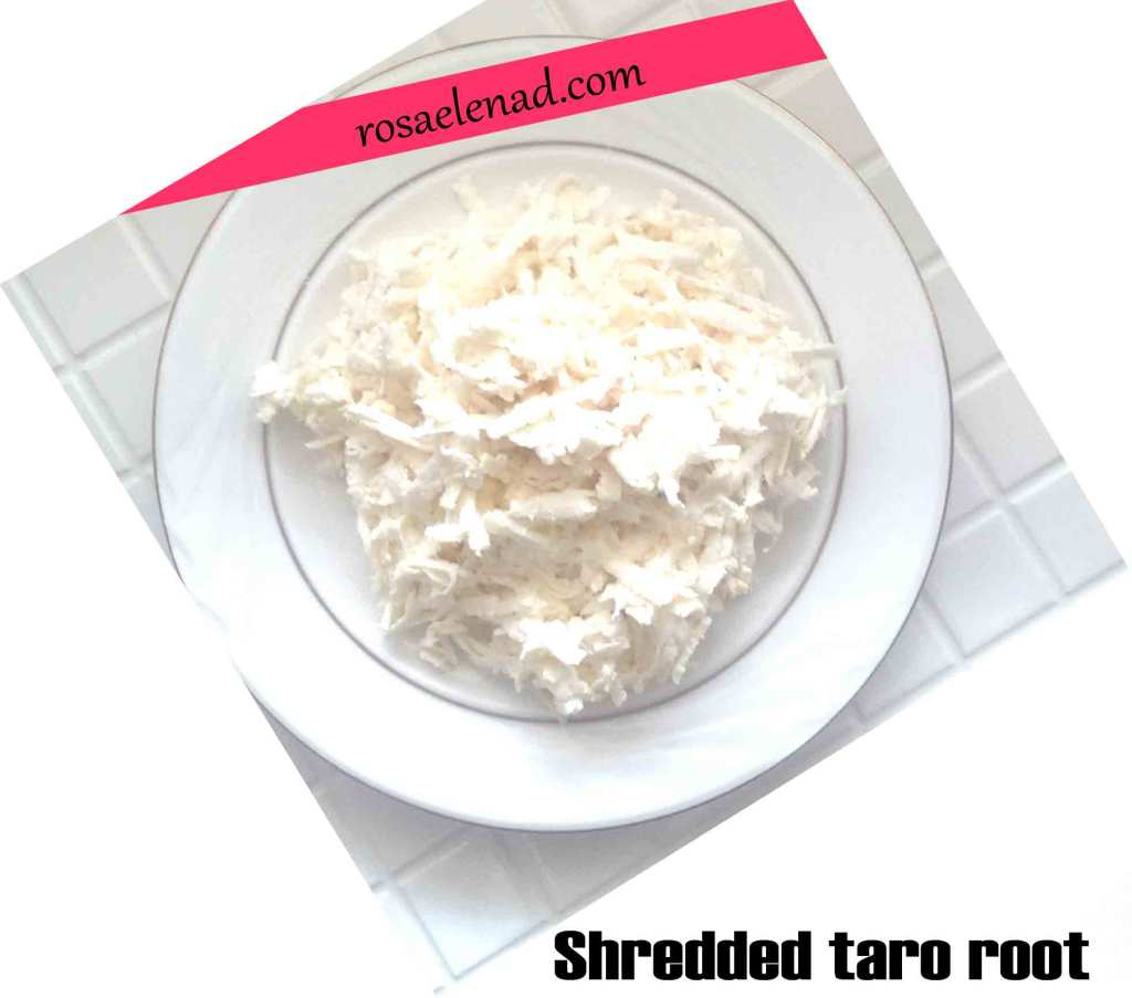 Shredded taro root