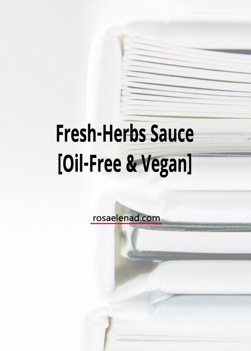 Vegan fresh-herbs sauce recipe