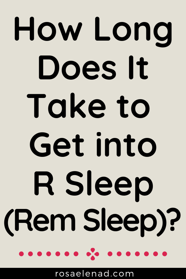 First REM sleep cycle