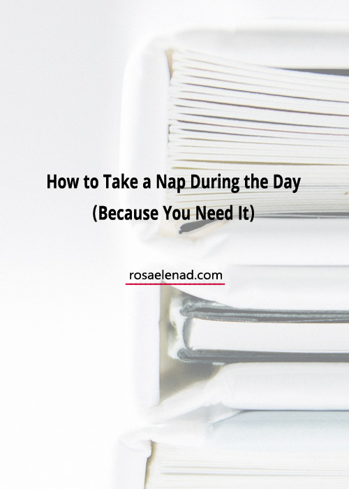 How to take a nap during the day