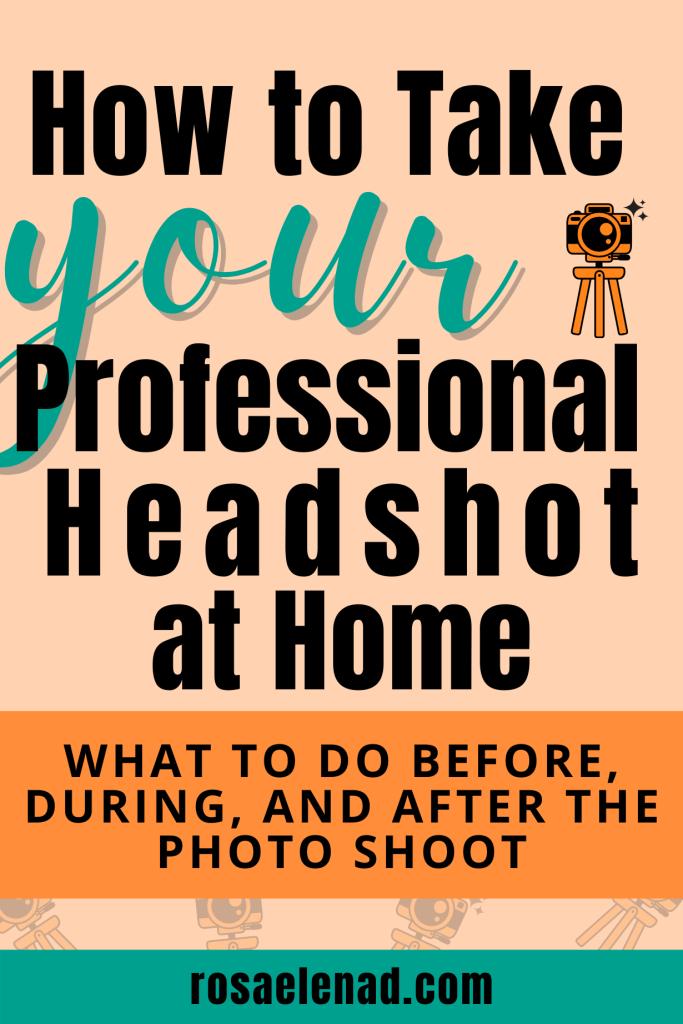 DIY Professional Headshot at Home