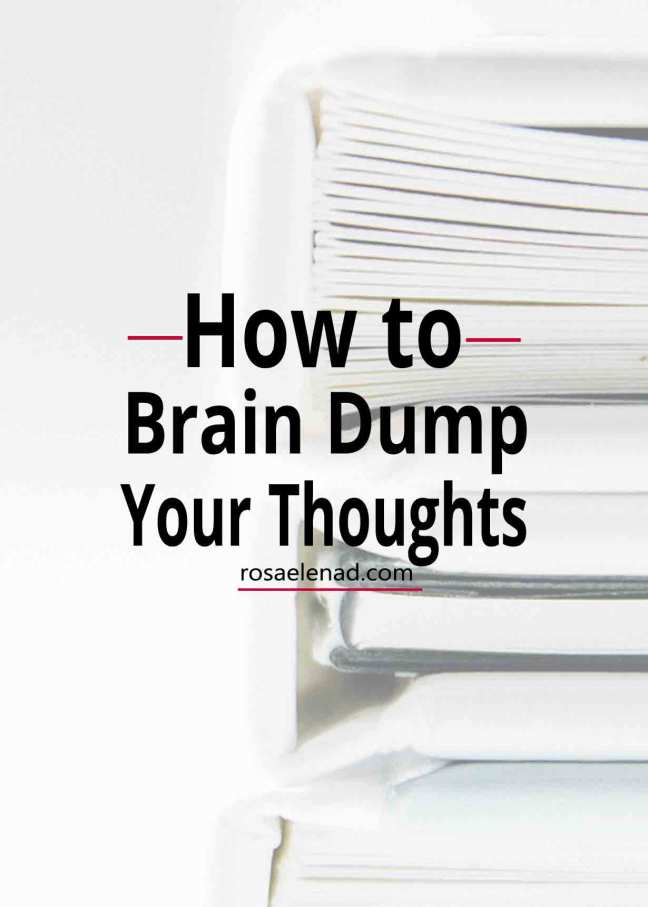 How to brain dump your thoughts