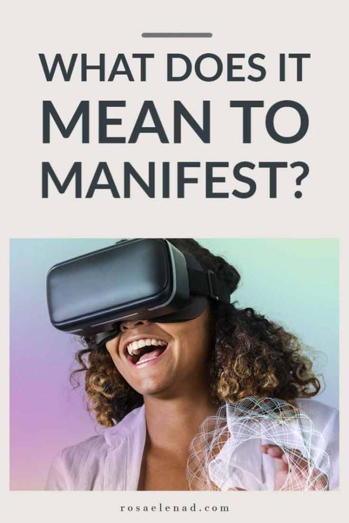 What does it mean to manifest